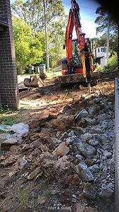 Excavation landscaping tipper excavator hire soil concrete removal South Turramurra Ku-ring-gai Area Preview