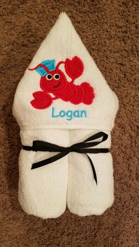 Personalized Lobster Hooded Towel