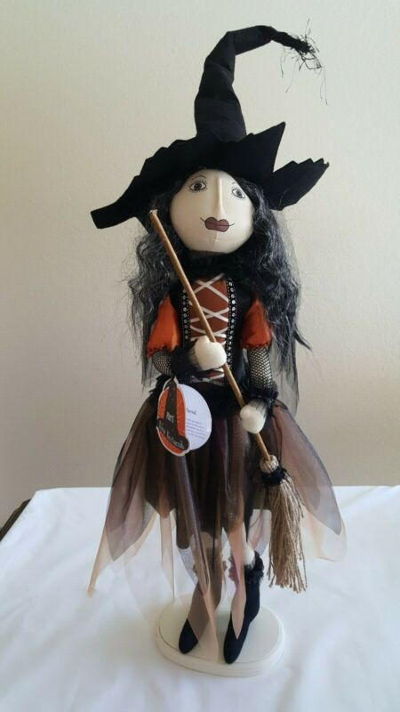 """New Pier 1 Nina Nocturnal Beautiful Witch Doll 30"""" Tall Halloween Decor"""