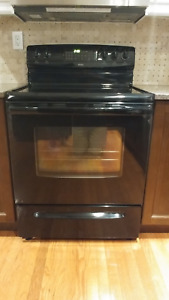 Kenmore black electric range ceramic top. Mint condition