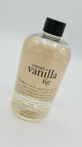 16oz PHILOSOPHY BODY SPRITZ SWEET VANILLA FIG Sealed No Pump - $25.49