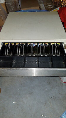 Mmf Cash Drawer Ecd 232 L2 12v Till Pos Tan Good Used W Key Cord 25-2232