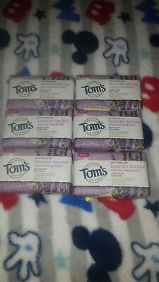 Tom's of Maine Bar Soap With Raw Shea Butter, Lavender Tea Tree 5 oz 6pk Toms Of Maine Lavender Soap