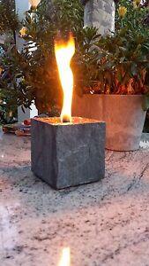Ein Schmelzlicht , Kerze ,für Wachsreste Fackel mit Kupferbrenner in Schwarz