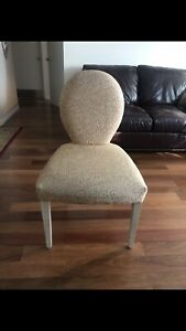 Dining table chairs (set of 6), excellent condition