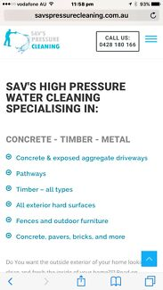 High pressure cleaning for drives, paths, and more