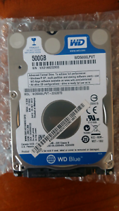 Western Digital Blue 500GB Hard Disk Drive  for laptop Battery Point Hobart City Preview