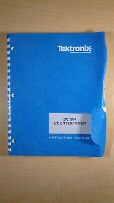 Tektronix Dc 504 Countertimer Instruction Manual 8c B3