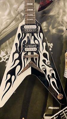 Dean Guitarras Michael Schenker Costumbre Flames Guitarra Eléctrica
