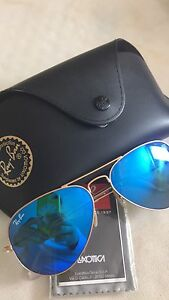 Ray Ban new sunglasses blue mirrored