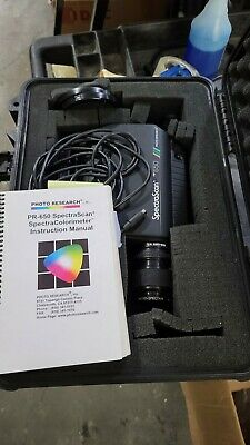 Photo Research Spectrascan Pr-650 Ms-75lens Colorimeter Spectrophotometer Case