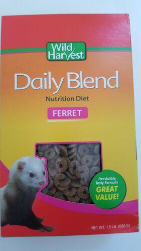 Wild Harvest Daily Blend Nutrition Diet Ferret 1.5 lb. Ferret food premiun