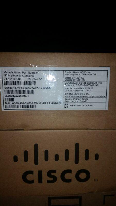 Cisco Cp-7821-k9 IP Phone 7821 NIB NEW