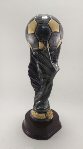 Large World Cup Soccer Trophy  Award. Free engraving.