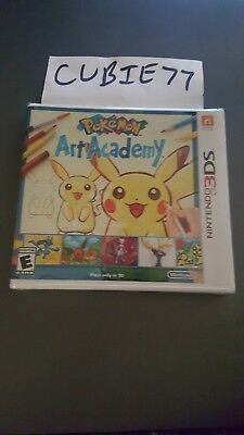 Pokemon Art Academy (Nintendo 3DS, 2014) NEW & Sealed w/ Y- Folds ORIGINAL US