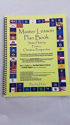 Lesson Planbook (Master Lesson Plan Book-State History from a Christian)