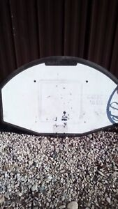Basketball net with two rims