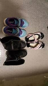 3 pairs of Little girls shoes - ASCIS, Airflex and Boots Strathfield Strathfield Area Preview