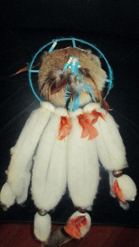"22"" Native American Man-Del-La Dream Catcher Handmade By Rio Manufacturing Wool"