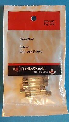 New Radioshack 5 Amp 250 Volt Slow-blow Fuses 1-1414 2701027 Free Shipping