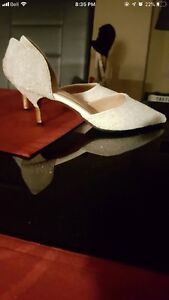White crystal shoes