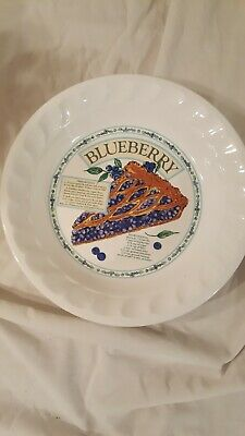 Blueberry Pie Collection (plate with BLUEBERRY PIE recipe on the plate no chips or cracks GREAT condition  )