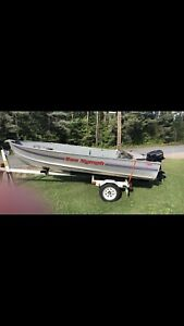 14ft Sea Nymph Boat with Trailer and 15hp Evinrude