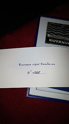Boucheron Edson by Waterman Limited Edition Fountain Pen #1328/3741 Box & Papers