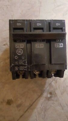 Ge Thqb3025 3-pole 50 Amp 240 Volt Circuit Breaker Box 592.