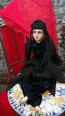 Gypsy Boudoir Bed Doll Antique Vintage 1920s Or 1930s