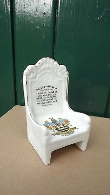 Arcadian Crested China model of The Old Arm Chair Crest for Blackpool