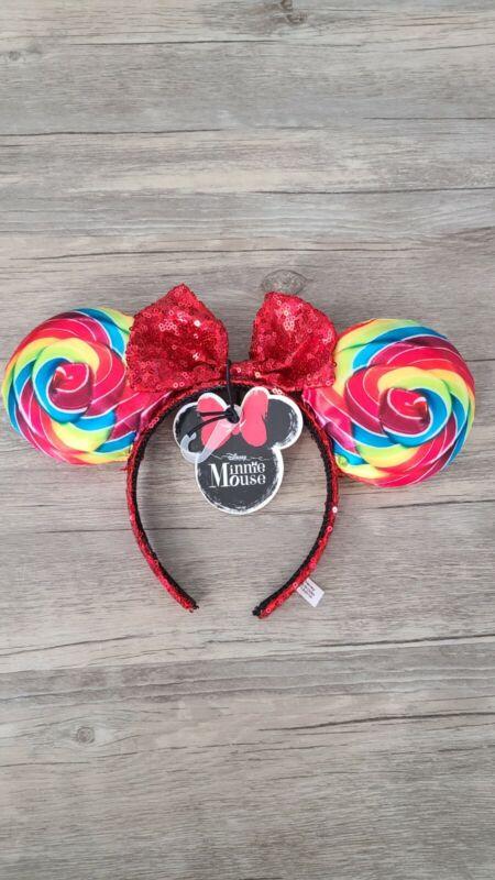 NWT Disney Minnie Mouse Lollipop Sequin Mickey Ears Headband