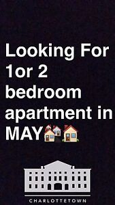 Looking for 1 or 2 bedroom apartment in May
