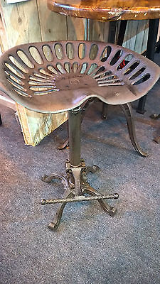 Rustic Vintage Cast Iron Tractor Seat/Breakfast Bar Kitchen Stool Home/Garden 24