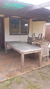 CHEAP!!   8 seater teak outdoor setting. Milperra Bankstown Area Preview