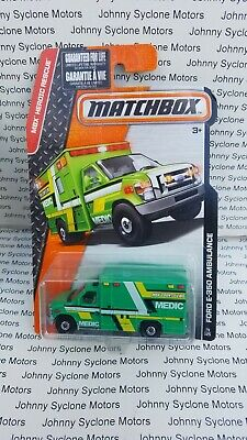 MATCHBOX FORD F-350 AMBULANCE EMERGENCY VEHICLE MB RESCUE GREEN