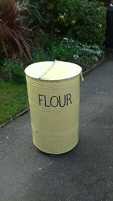 Vintage retro industrial flour bin