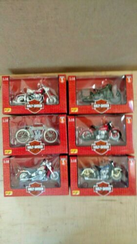 Series #5 Maisto Harley-Davidson 1:18 1998 Completes Set of 6 New in Box