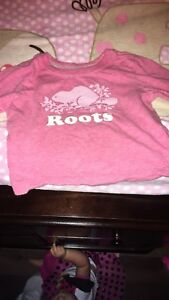 Baby girl roots shirt 3-6