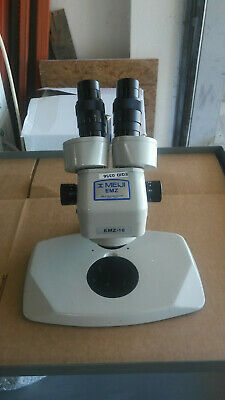 Meiji Techno Emz-10 Binocular Zoom Stereo Microscope With Ma502 And Pk Stand