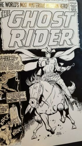 GHOST RIDER # 1 ORIGINAL PRODUCTION ART 1967 DICK AYERS VINCE COLLETTA