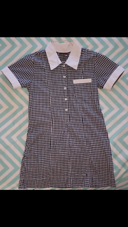 School dress size 10 blue/white check