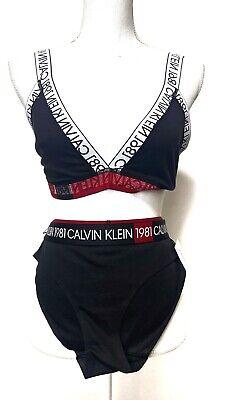 Calvin Klein 1981 Bold Unlined Large Triangle Bralette Underwear Bikini New