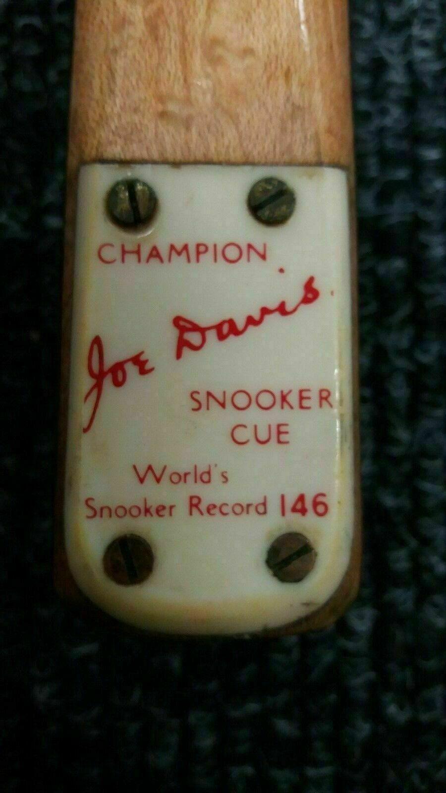 JOE DAVIS (146) CHAMPION SNOOKER CUE - 400