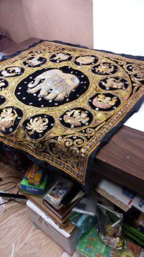 Burmese Thai Kalaga Zodiac Tapestry Sequined Large