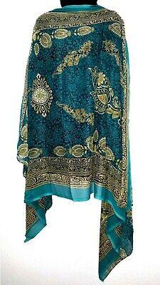 Sari Tuch (Stola Schal Tuch Bollywood Indisch Dupatta Stoff Sari Goa Hippie 103cm x 192cm )