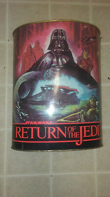 Vintage Star Wars 1983 Cheinco Return of the Jedi Metal Trash Can