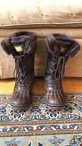 Brown London Fog winter boots