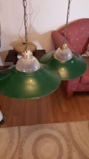2 x Dark Green Pendant Lights Craigmore Playford Area Preview