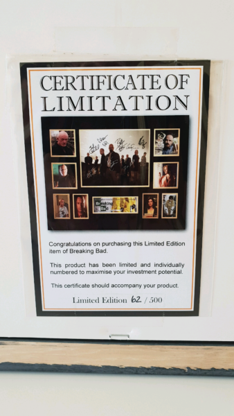 Breaking Bad signed Collectors Limited Edition Framed Picture ...